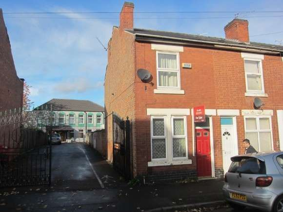 2 Bedrooms End Of Terrace House for sale in 28 Pear Tree Street, Normanton, Derby