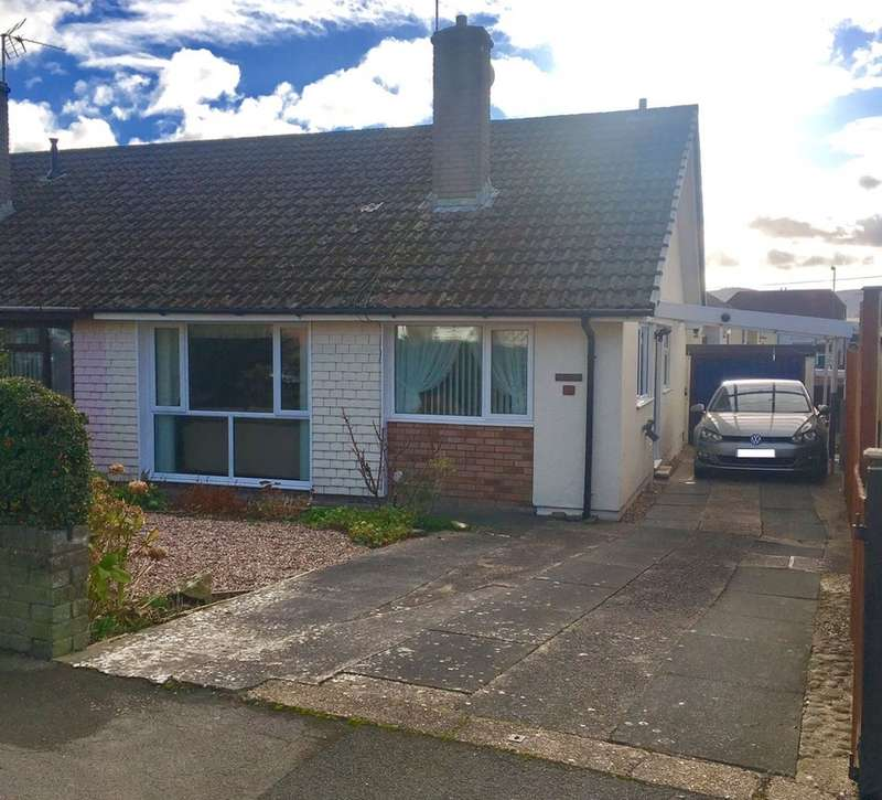 2 Bedrooms Semi Detached Bungalow for sale in Cherry Tree Close, Bedwas, Caerphilly
