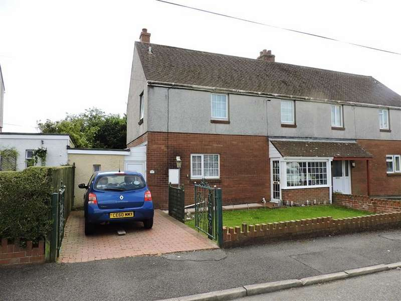 3 Bedrooms Semi Detached House for sale in Bron Gwendraeth, Carway, Kidwelly
