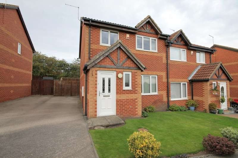 3 Bedrooms Semi Detached House for sale in Barbary Close, Pelton, Chester Le Street, DH2