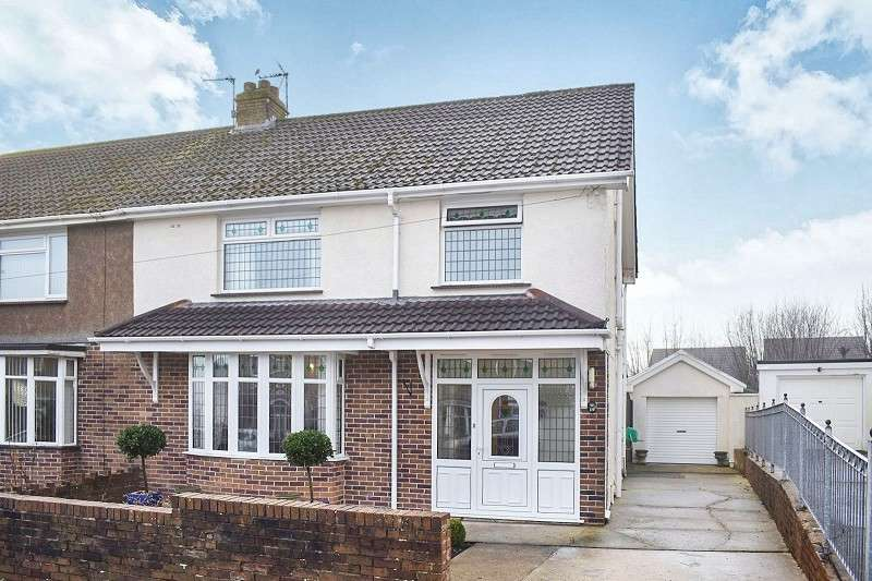 3 Bedrooms Semi Detached House for sale in Oaklands Road, Bridgend. CF31 4SU