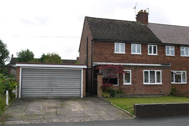 3 Bedrooms Semi Detached House for sale in Crescent Road, Lutterworth, Leicestershire