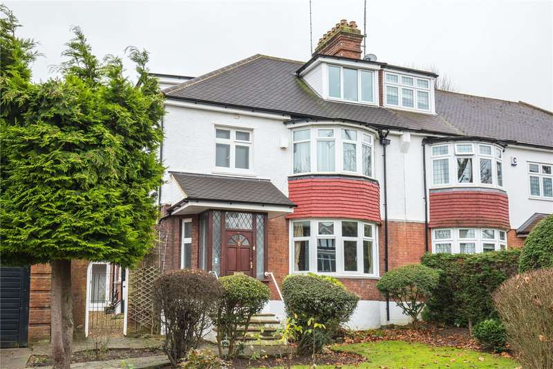 5 Bedrooms Semi Detached House for sale in Dollis Avenue, Church End, London, N3