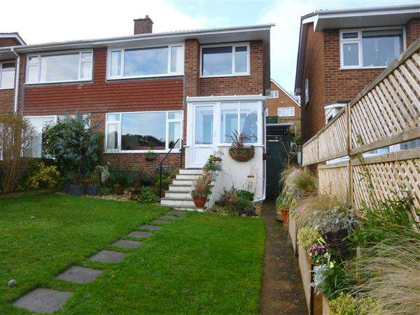 3 Bedrooms Semi Detached House for sale in Higher Drive, Dawlish