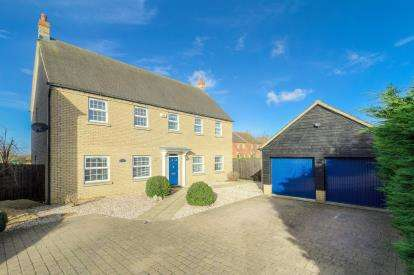 5 Bedrooms Detached House for sale in Longmeadow, Bedford, Bedfordshire