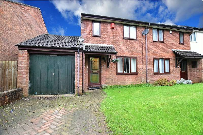3 Bedrooms Semi Detached House for sale in Merlin Close, Thornhill, Cardiff. CF14 9AW