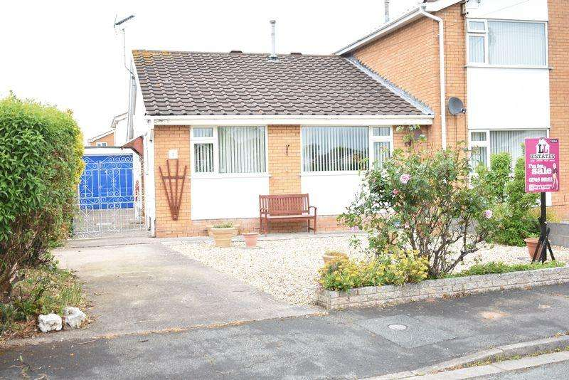 2 Bedrooms Semi Detached Bungalow for sale in Lilac Avenue, Rhyl