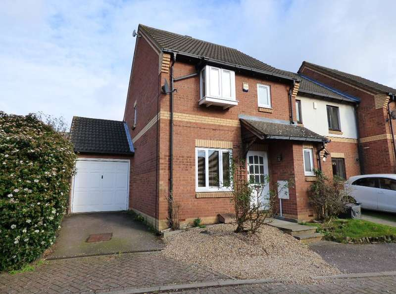 3 Bedrooms End Of Terrace House for sale in Aldenham Close, Bedford, MK41 0SQ