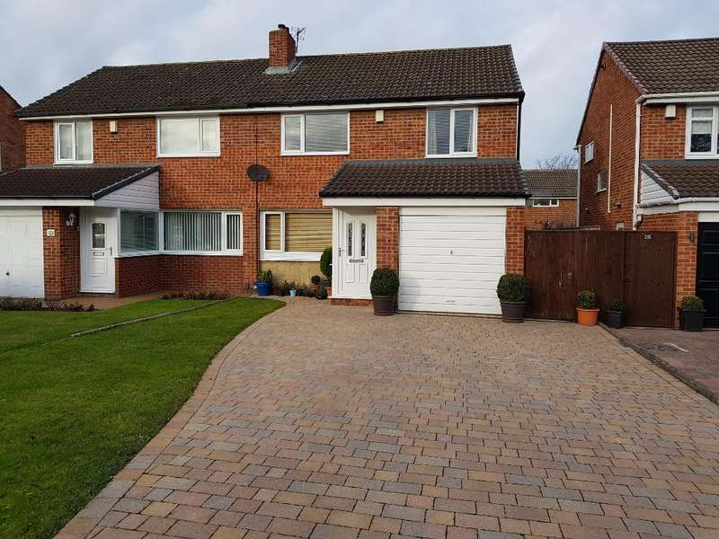 3 Bedrooms Semi Detached House for rent in Woodford Green, Eaglescliffe, Stockton-on-Tees, TS16 9EX