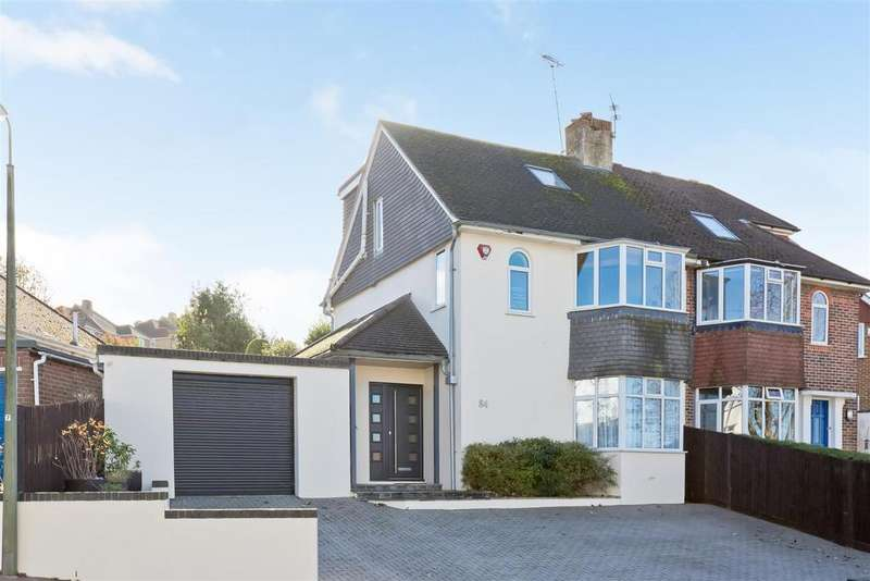 4 Bedrooms Semi Detached House for sale in Wilmington Way, Patcham, Brighton