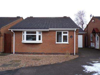 2 Bedrooms Bungalow for sale in Taylor Close, Syston, Leicester, Leicestershire