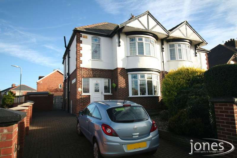 3 Bedrooms Semi Detached House for sale in Oxbridge Avenue, Stockton on Tees, TS18 4LF