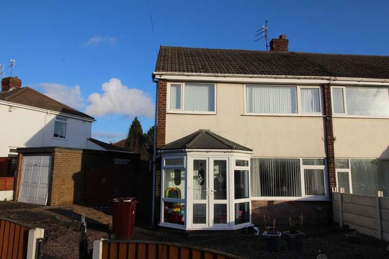 3 Bedrooms Semi Detached House for sale in Simons Close, Whiston, Prescot, L35