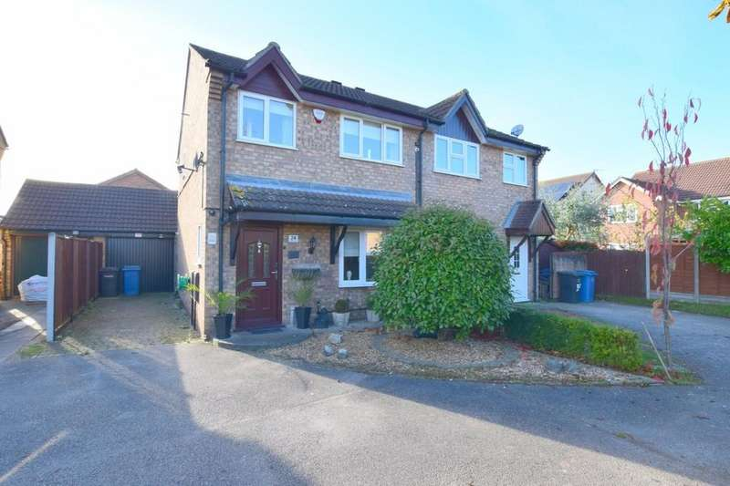 3 Bedrooms Semi Detached House for sale in Carsons Drive, Great Cornard, CO10 0NE