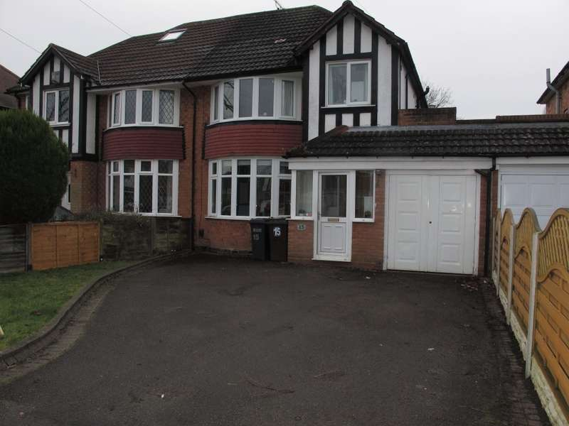 3 Bedrooms Semi Detached House for sale in Thurlston Avenue, Solihull