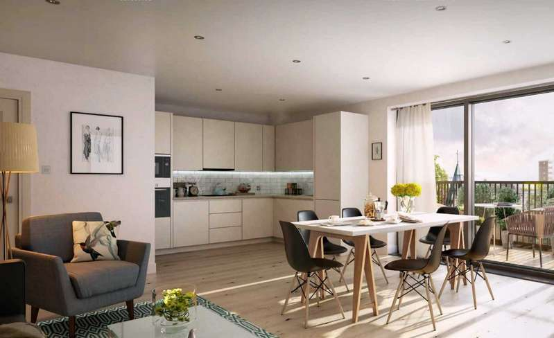 1 Bedroom Apartment Flat for sale in Cambium, Victoria Drive, Southfields, London, SW19