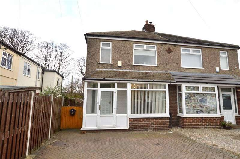 3 Bedrooms Semi Detached House for sale in Owlcotes Drive, Pudsey, West Yorkshire