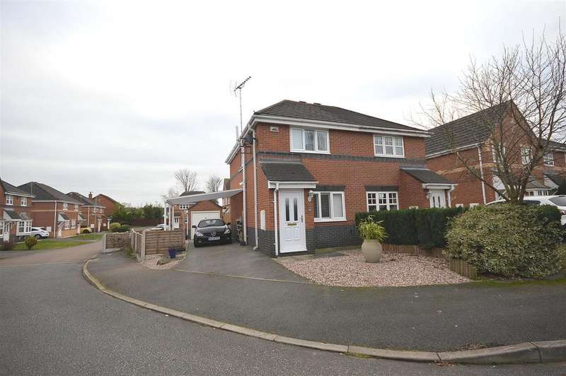 2 Bedrooms Semi Detached House for sale in Coleridge Close, Sandbach