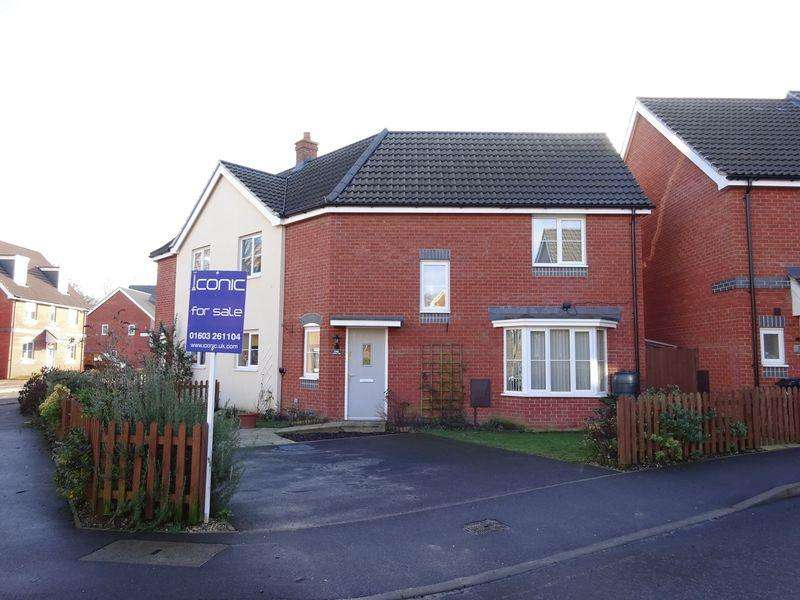 3 Bedrooms Semi Detached House for sale in Crossbill Close, Costessey, Norwich