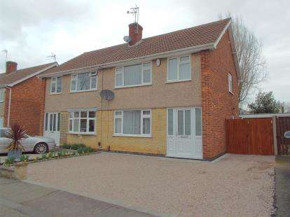 3 Bedrooms Semi Detached House for sale in Olympic Close, Glenfield, Leicester, Leicestershire