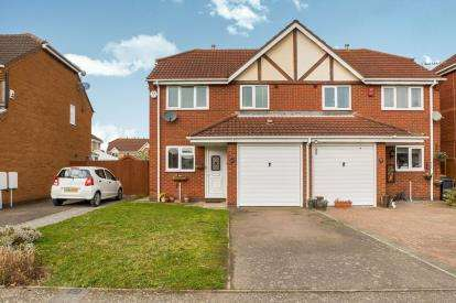 3 Bedrooms Semi Detached House for sale in Hillesden Avenue, Elstow, Bedford, Bedfordshire