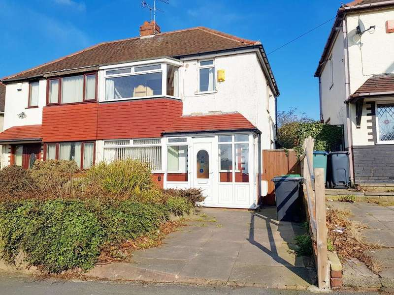 2 Bedrooms Semi Detached House for sale in HYDES ROAD, WEST BROMWICH, WEST MIDLANDS, B71 2EE