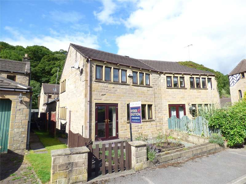 3 Bedrooms Semi Detached House for sale in River Holme View, Brockholes, Holmfirth, West Yorkshire, HD9