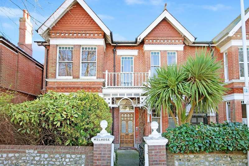 4 Bedrooms Semi Detached House for sale in Warwick Gardens, Worthing BN11 1PE