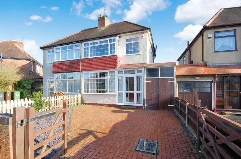 3 Bedrooms Semi Detached House for sale in Chester Avenue, Claregate, Wolverhampton WV6