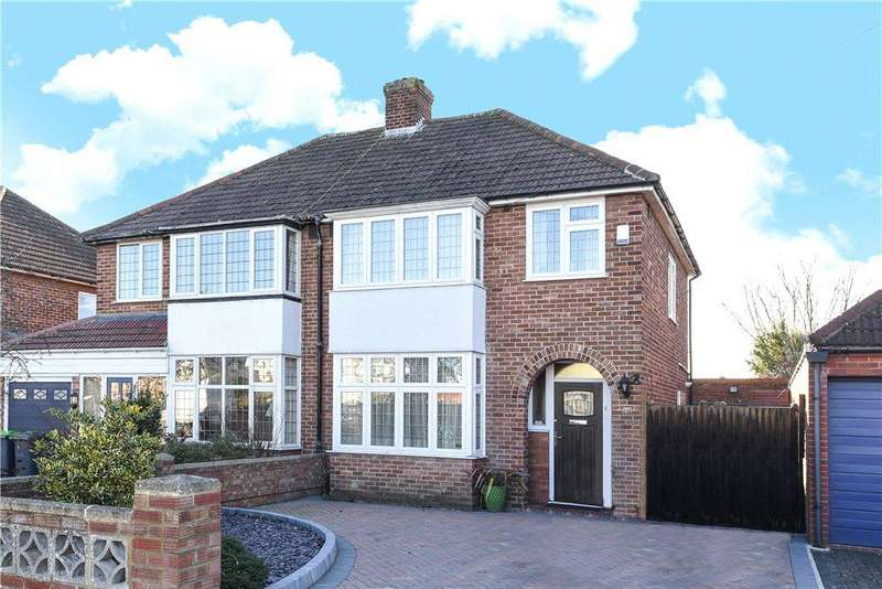 3 Bedrooms Semi Detached House for sale in Wendover Drive, Bedford, Bedfordshire