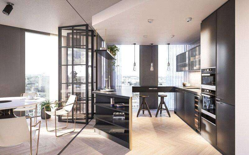 2 Bedrooms Apartment Flat for sale in One Crown Place, London, EC2A