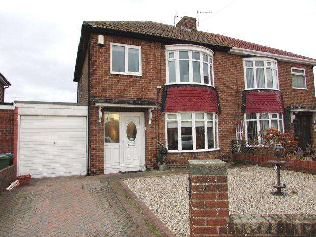 3 Bedrooms Semi Detached House for sale in BURDON CRESCENT, SEAHAM, SEAHAM DISTRICT