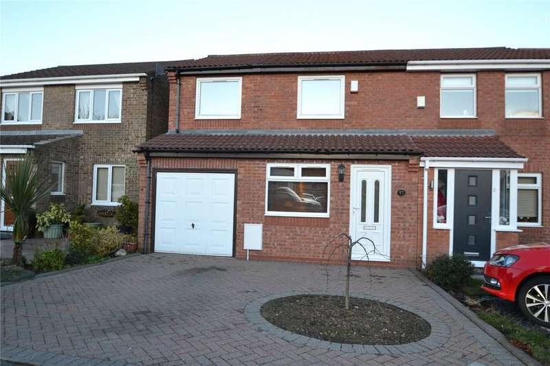 3 Bedrooms Semi Detached House for sale in Brougham Court, Oakerside, Peterlee, Co.Durham, SR8