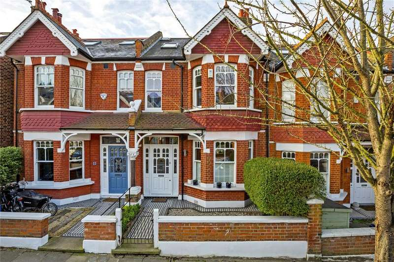 4 Bedrooms Terraced House for sale in Palmerston Road, London, SW14