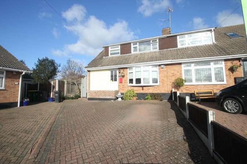 3 Bedrooms Semi Detached House for sale in Gregory Close, Hawkwell