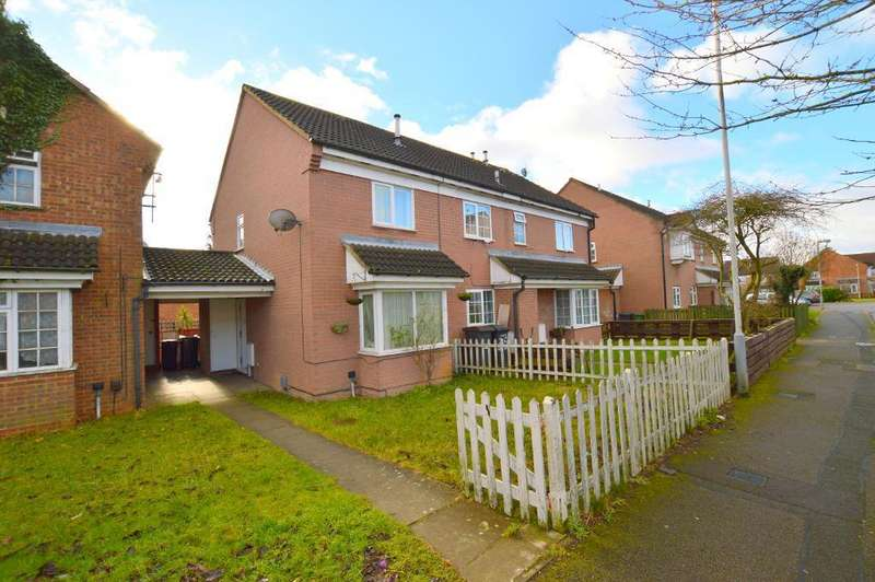2 Bedrooms Semi Detached House for sale in Dorrington Close, Luton, LU3 1XL