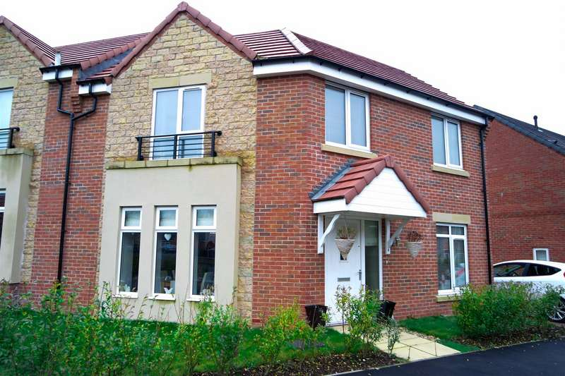 3 Bedrooms Semi Detached House for sale in Appleby Road, New Houghton, Mansfield