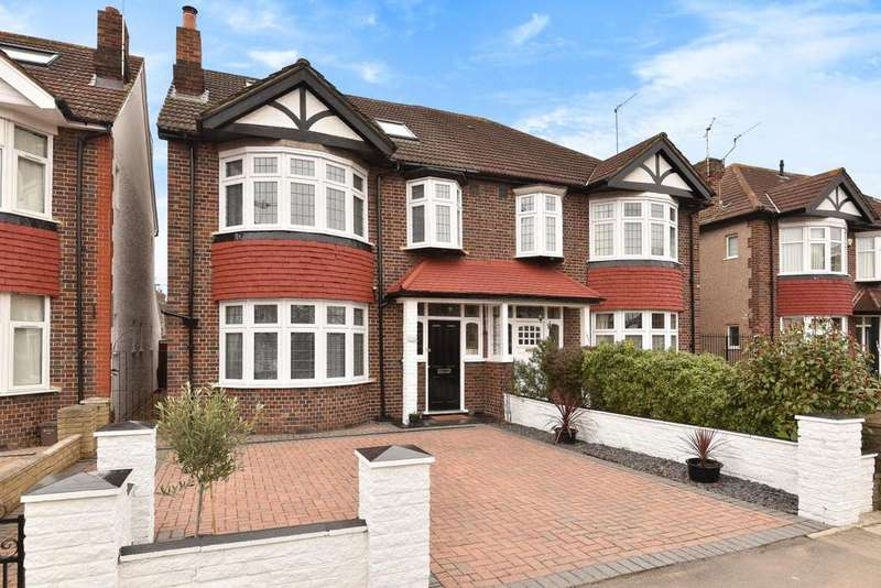 4 Bedrooms Semi Detached House for sale in Grand Drive, Raynes Park