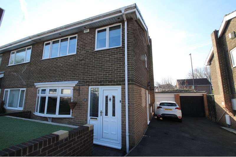 3 Bedrooms Property for sale in Avebury Drive, Washington Village, Washington, Tyne and Wear, NE38 7BT