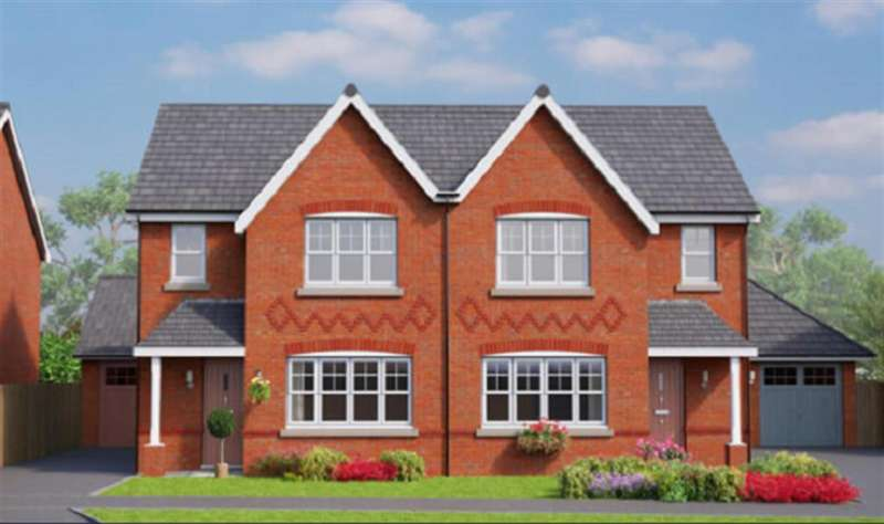 3 Bedrooms Semi Detached House for sale in The Banbury, Erddig Place, Wrexham LL11