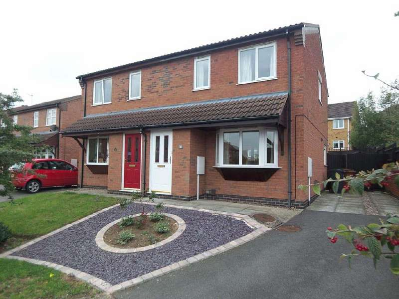 3 Bedrooms Semi Detached House for rent in Meadowsweet Close, Melton Mowbray, Leicestershire
