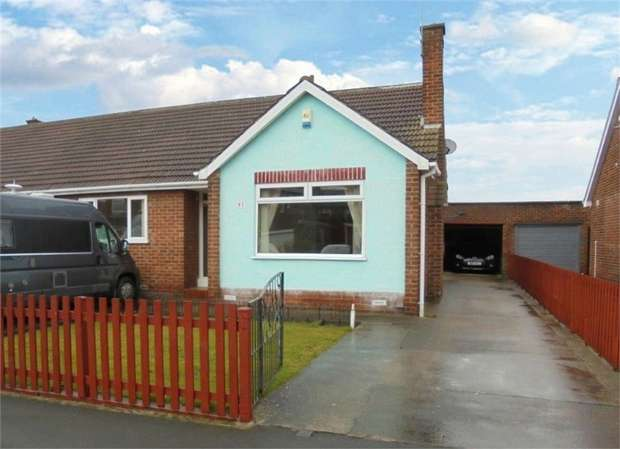2 Bedrooms Semi Detached Bungalow for sale in Countisbury Road, Stockton-on-Tees, Durham