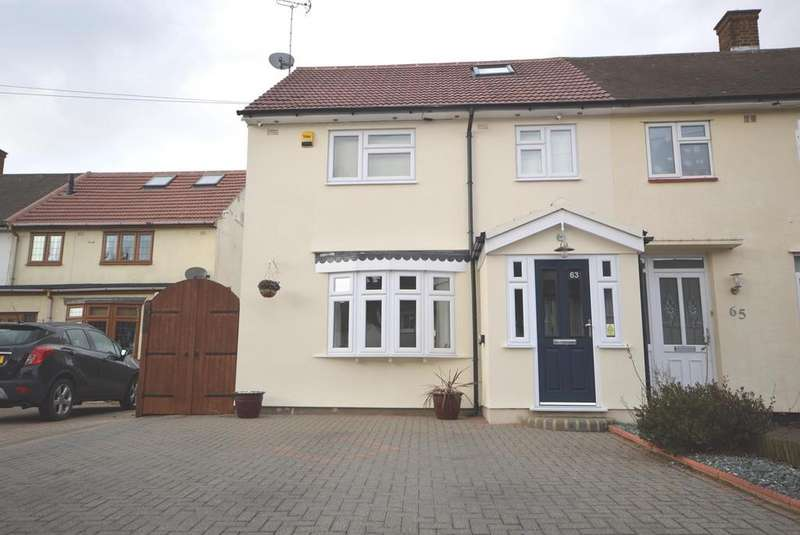 3 Bedrooms Semi Detached House for sale in Cricklade Avenue, Harold Hill Romford, RM3