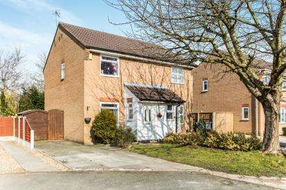 2 Bedrooms Semi Detached House for sale in St. Bridgets Close, Fearnhead, Warrington, Cheshire