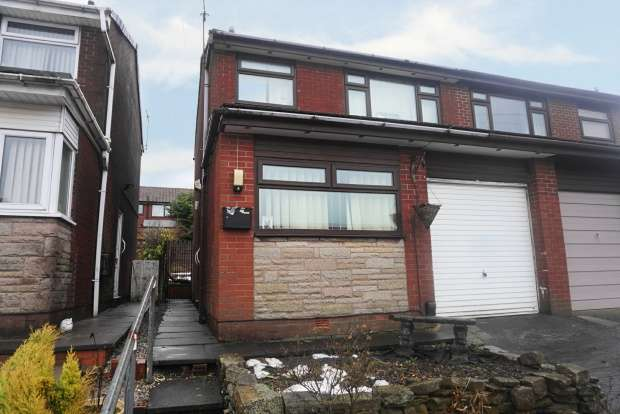 3 Bedrooms Semi Detached House for sale in Ashdene Rise, Oldham, Lancashire, OL1 4NU