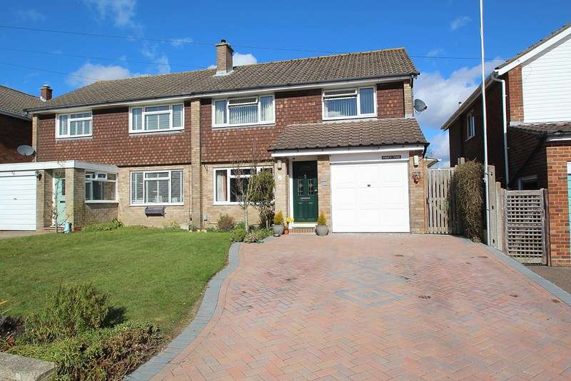 4 Bedrooms Semi Detached House for sale in Mallory Crescent, Fareham