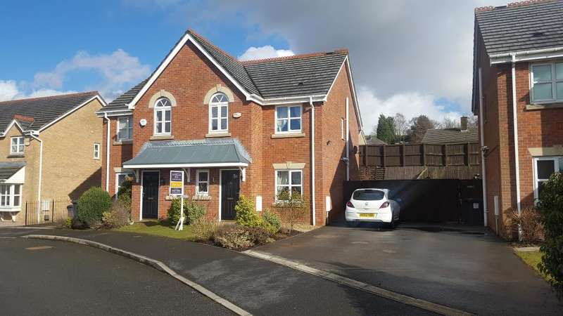3 Bedrooms Semi Detached House for sale in Bakehurst Close, New Mills, High Peak, Derbyshire, SK22 4PT