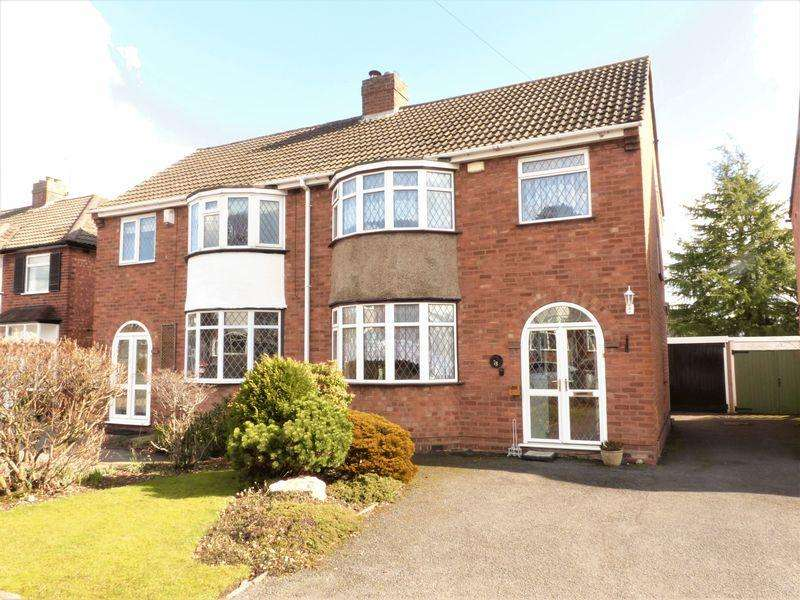 3 Bedrooms Semi Detached House for sale in Springfield Crescent, Sutton Coldfield