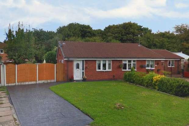 2 Bedrooms Semi Detached Bungalow for sale in Livingstone Close, Warrington, Cheshire, WA5 8QB