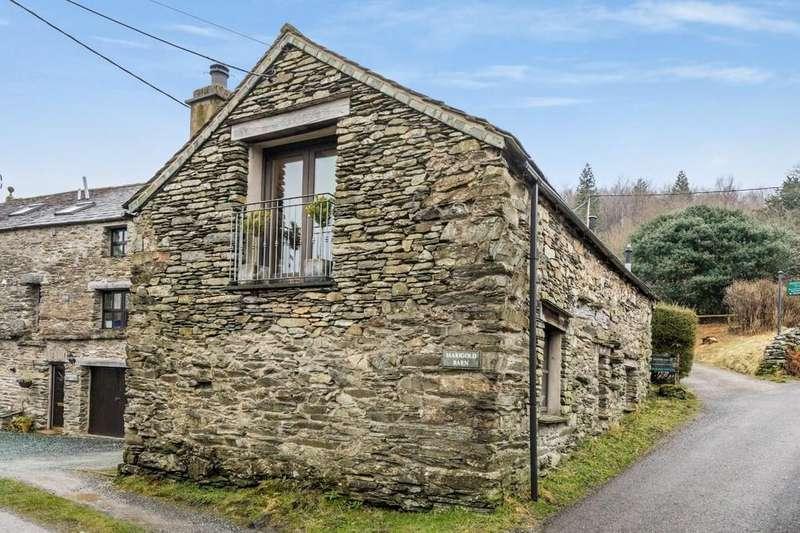 2 Bedrooms Barn Conversion Character Property for sale in Marigold Barn, Satterthwaite, Ulverston, Cumbria, LA12 8LN